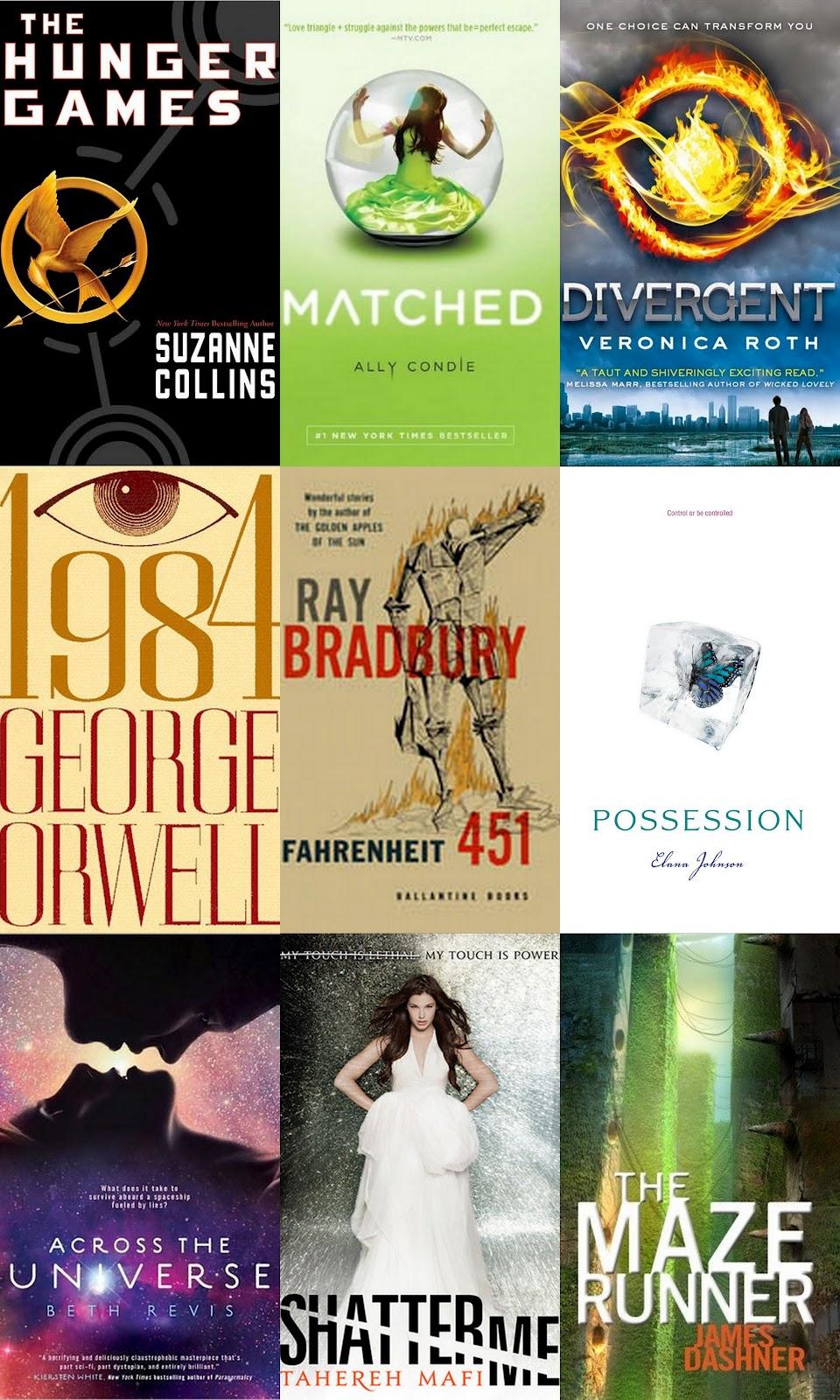 Dystopian Books Collage Grade8aci2013